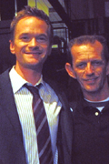Neil Patrick Harris and Ezra on How I Met Your Mother set